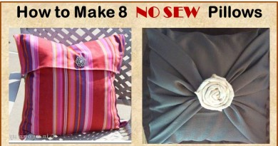 Simple No Sew DIY Pillow Tutorials