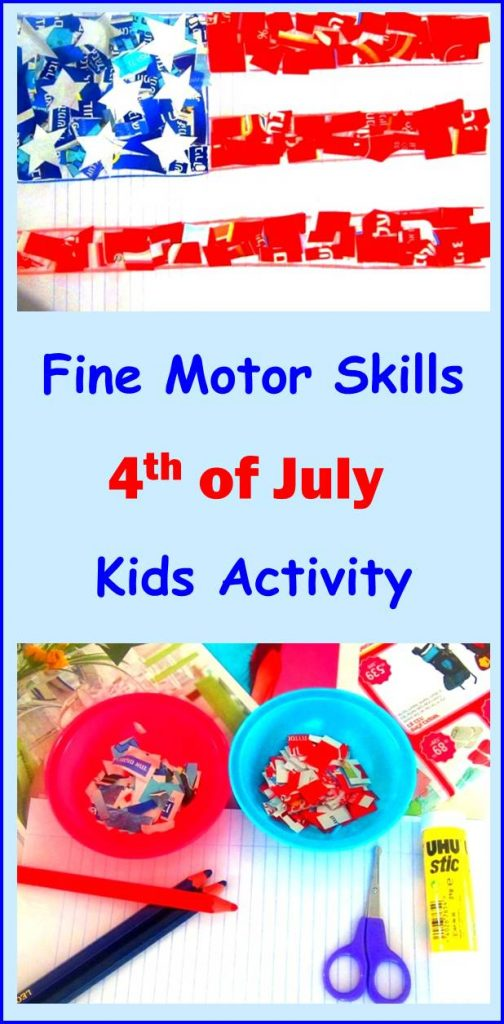 Fine Motor Skills 4th of july kids activity