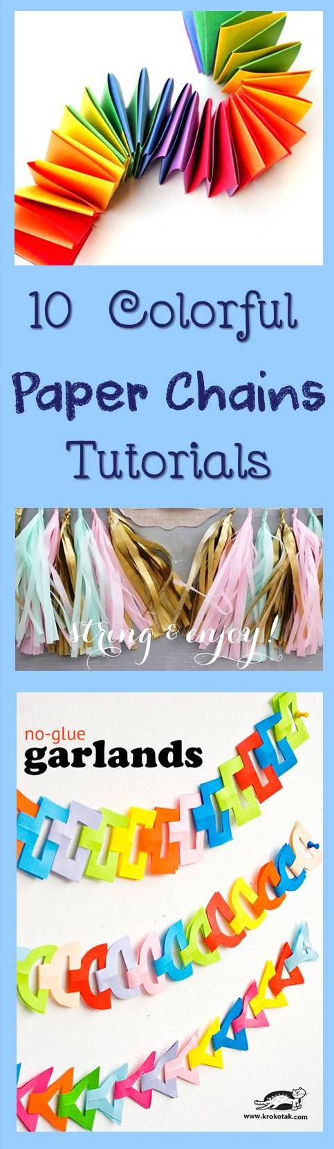 How to make DIY Garlands - 10 simple tutorials