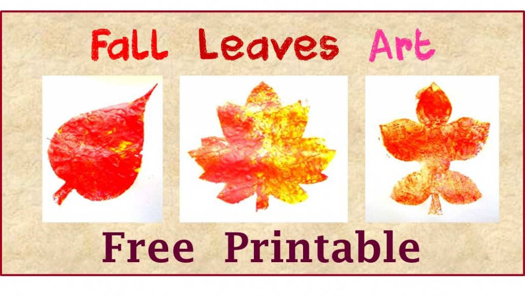 fall leaves art free printble for kids