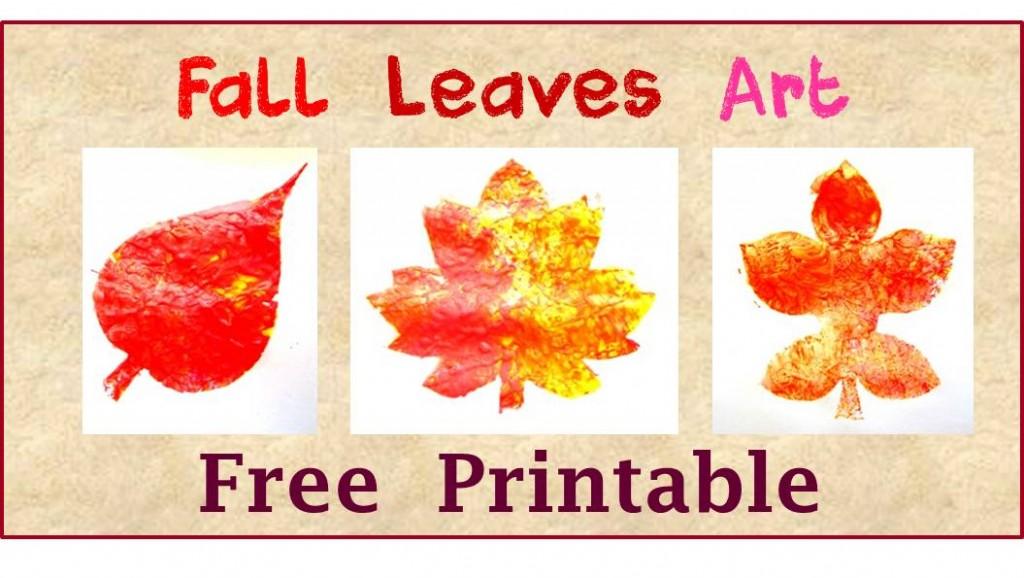fall leaves art free printble for kids