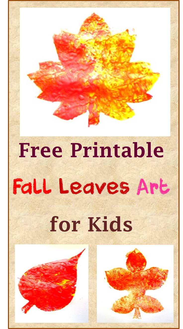 fall leaves art free printble