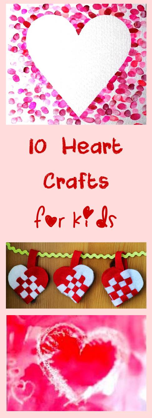 10 hear crafts and art projects