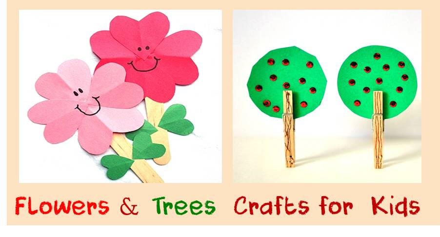 Flowers and trees crafts for kids cheer and cherry fb