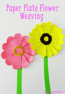 Paper-Plate-Flower-Weaving