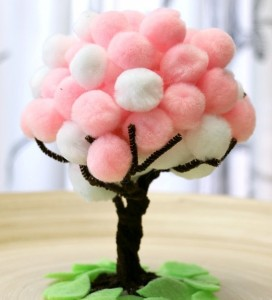 Spring-Blossoms-Pom-Pom-Tree cheer and cherry