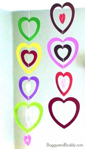 cheer and cherry paper heart chain cheer and cherry