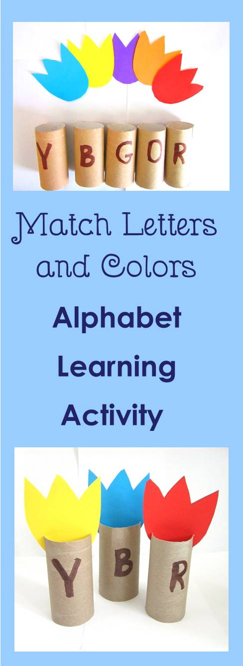 match letters and colors alphabet learning activity