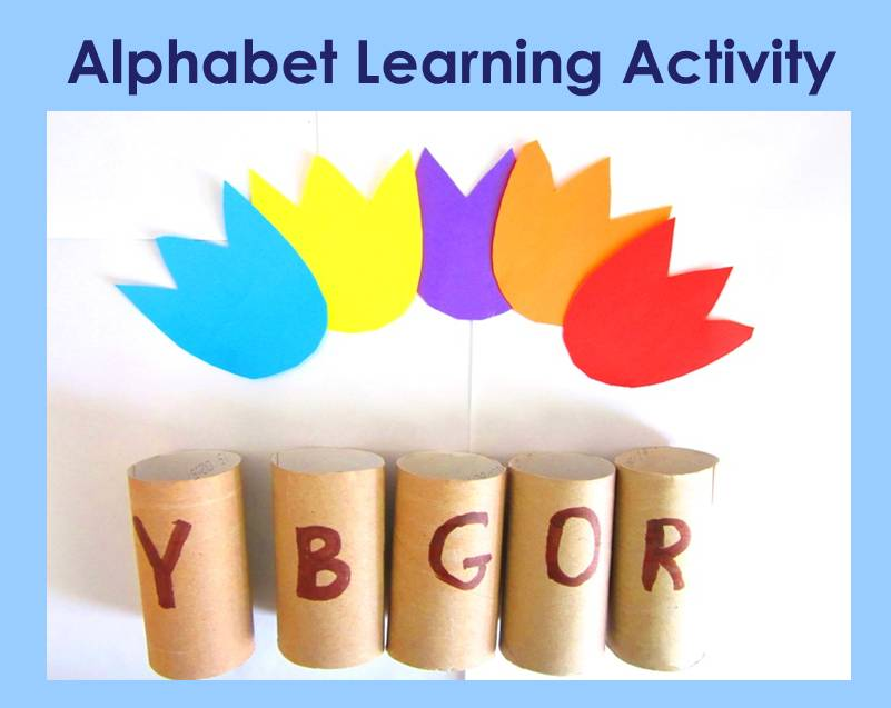 match letters and colors alphabet learning activity fb