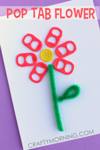 pop-tab-flower-card-spring-craft-for-kids cheer and cherry