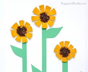 sunflower-egg-carton-craft-for-kids cheer and cherry