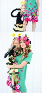 -Mom-and-Daughter-Halloween-Costume cheer and cherry