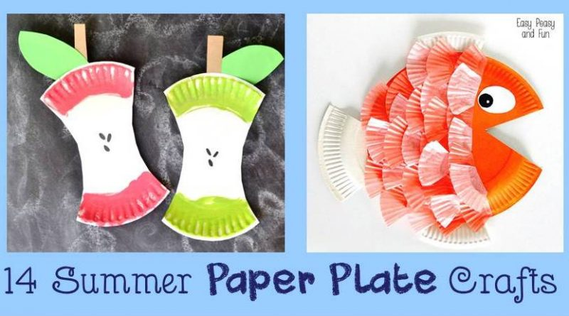 14 Summer paper plate kids crafts