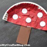 mushroom paper plate craft cheer and cherry