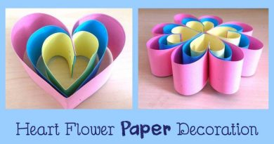 How to Make Simple Heart Flower Paper Decoration