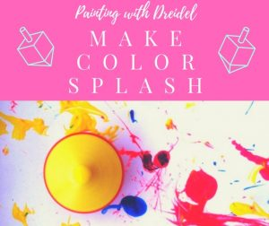 Fun Hanukkah project painting with dreidel