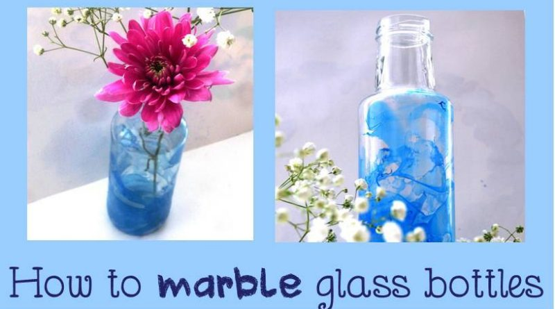 How to marble paint glass bottles