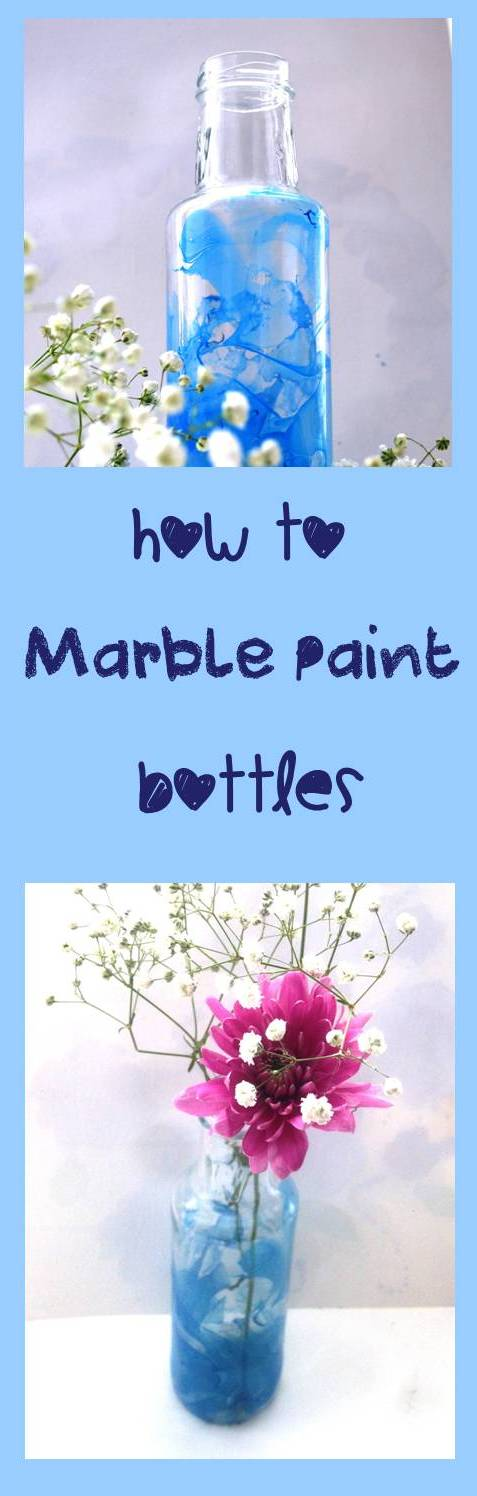 How to marble paint glass bottles 2