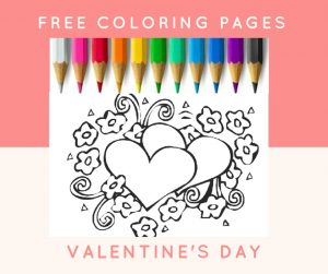 Valentines free coloring pages for kids