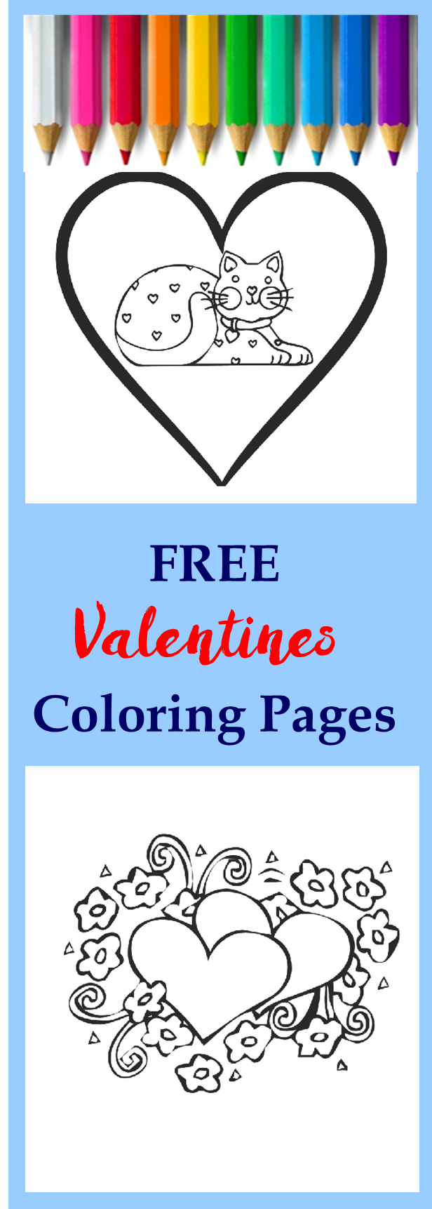 valentines free coloring pages