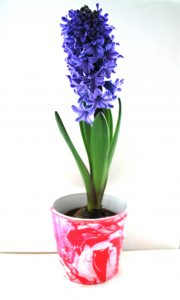 Valentine gift idea - Marbled flower pot