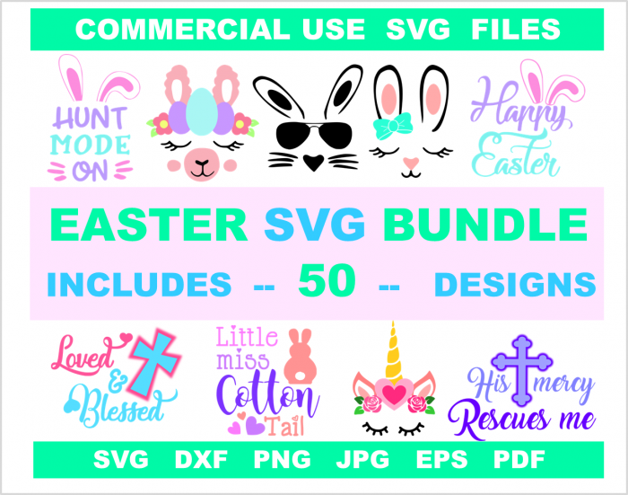 Svg dxf png files for Easter Cricut crafts and silhouette diy projects