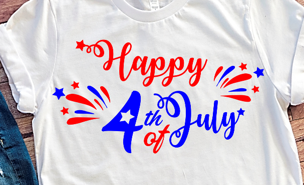 Happy 4th of July SVG DXF PNG clipart files for Cricut Silhouette projects