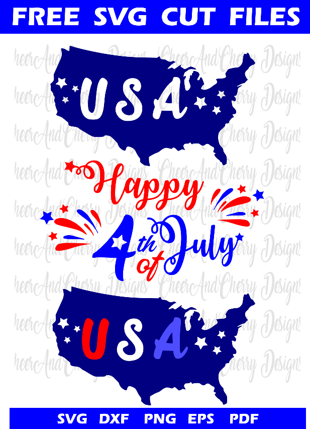 Free svg cut files for 4th of july Cricut silhouette cameo crafts DIY t-shirts