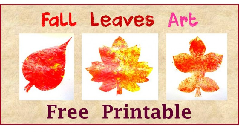 Free Printable Fall Leaves Art for Kids
