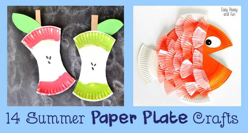 14 Summer Paper Plate Kids Crafts - Cheer and Cherry