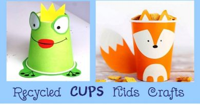 Recycled cups kids crafts