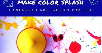 Fun Hanukkah project painting with dreidel